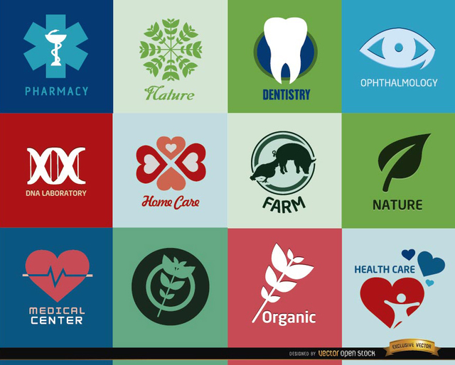 Free Logos for health centers and products