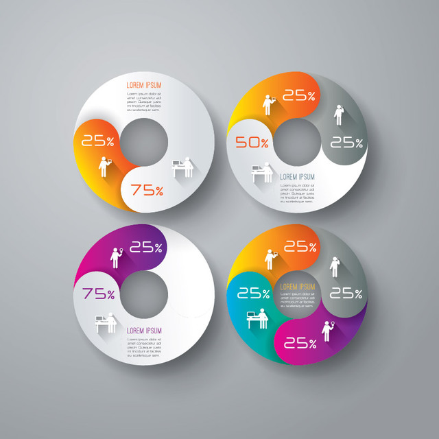 Free Creative Circular Chart Business Infographic
