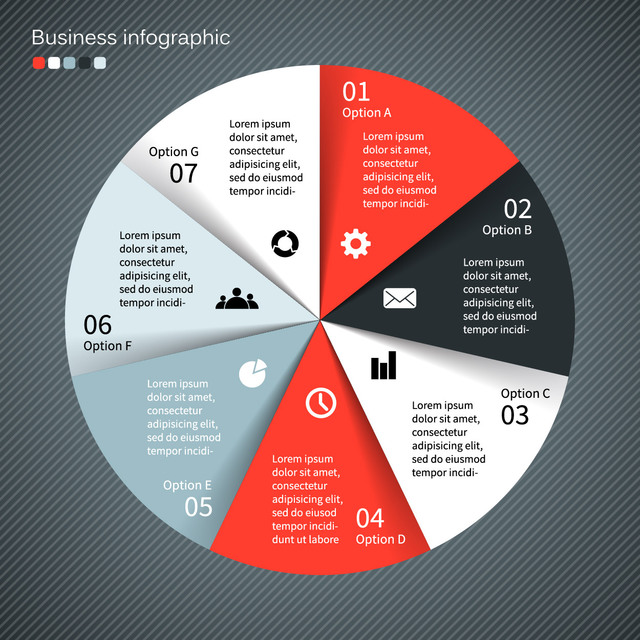 Free Elegant Rounded Business Infographic Template