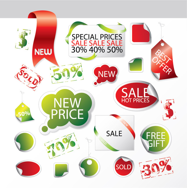 Free Promotional Sales Package Label & Tag Set