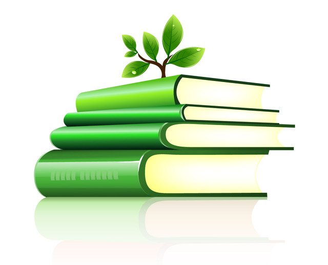 Free Tree Planted on a Stack of Green Books