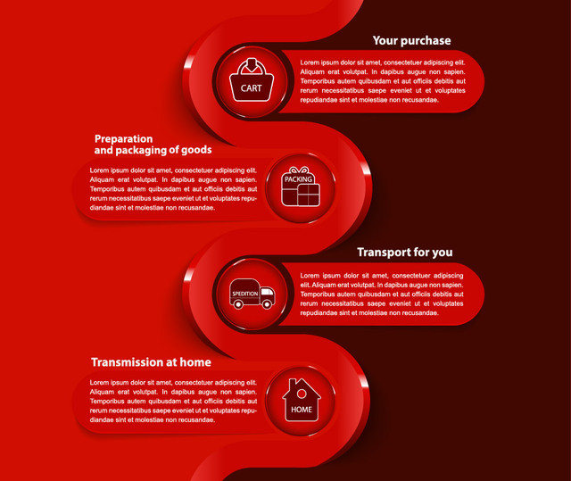 Free Ecommerce Business Modern Infographic Template