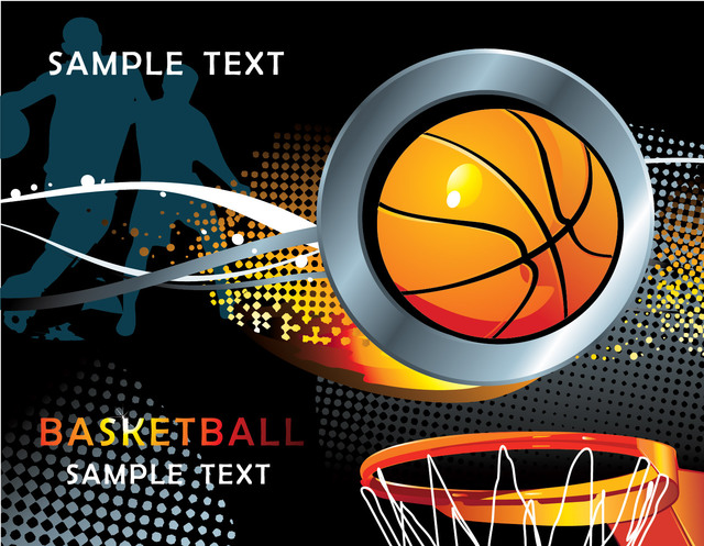 Free Cool Basketball Background with Halftones