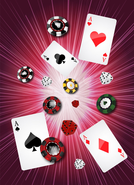 Free Casino Background with Gambling Objects
