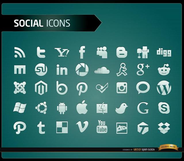 Free 40 Social media icons