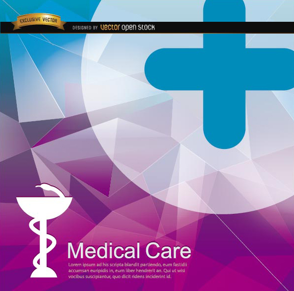 Free Medical polygon background