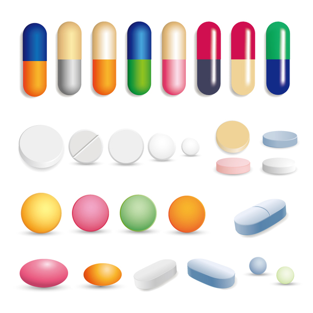 Free Glossy Capsule & Pill Colorful Set