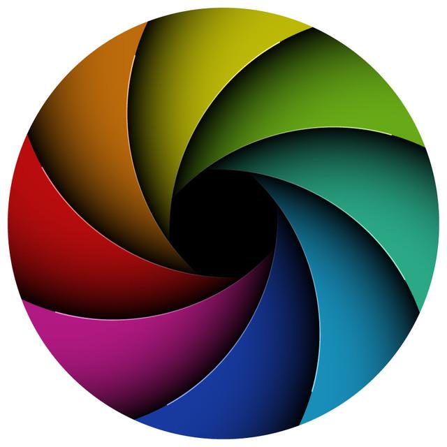 Free Multicolor Curves Vortex Circle