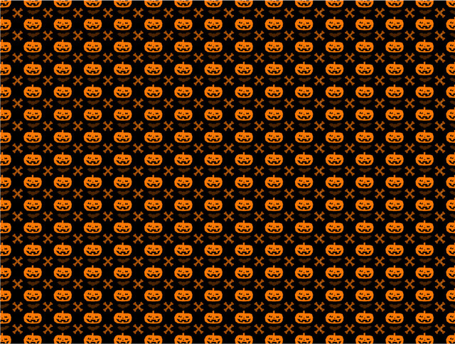 Free Halloween Pumpkin Seamless Pattern with Bones & Bats