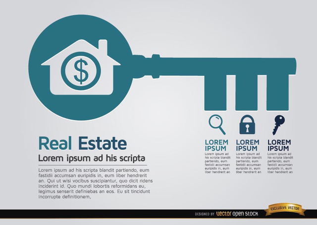 Free Real estate key infographics