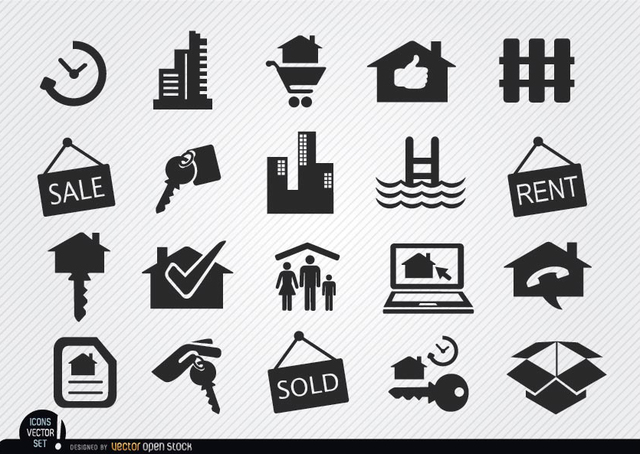 Free Real estate icons set