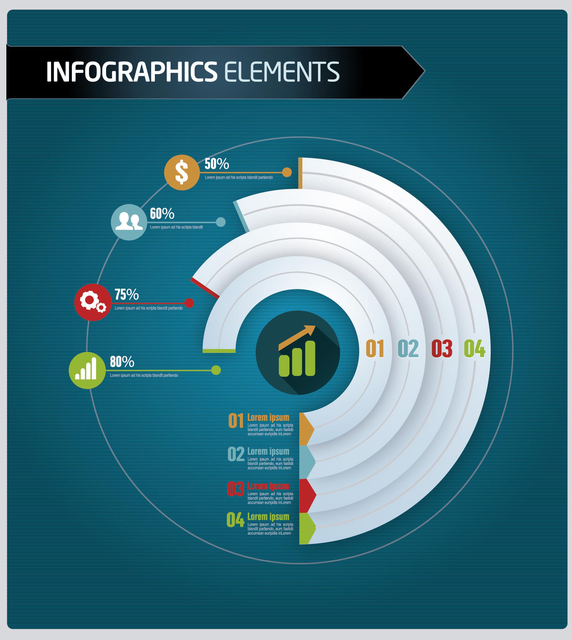 Free Business infographics level by sector