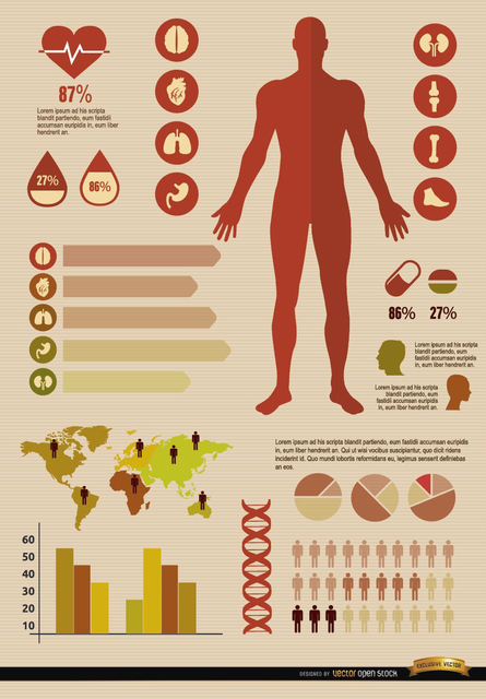 Free Medical infographics resources