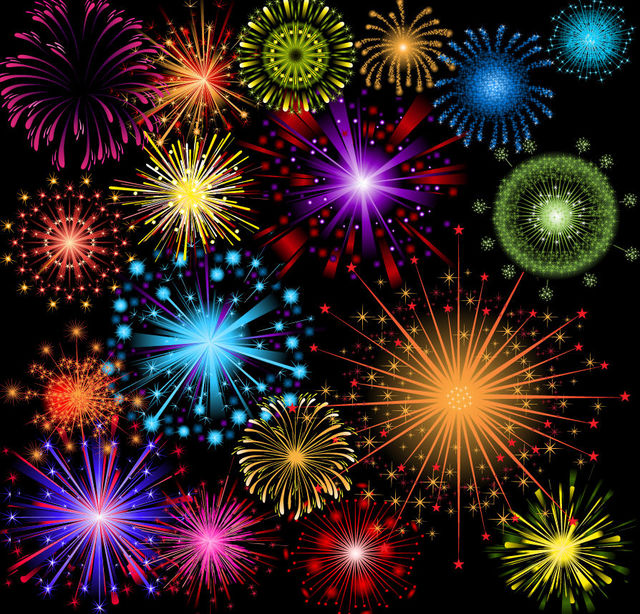 Free Bright Colorful Detailed Firework Pack