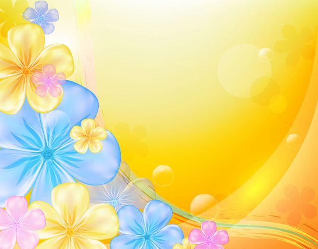 Free Beautiful Multicolor Flower Orange Background