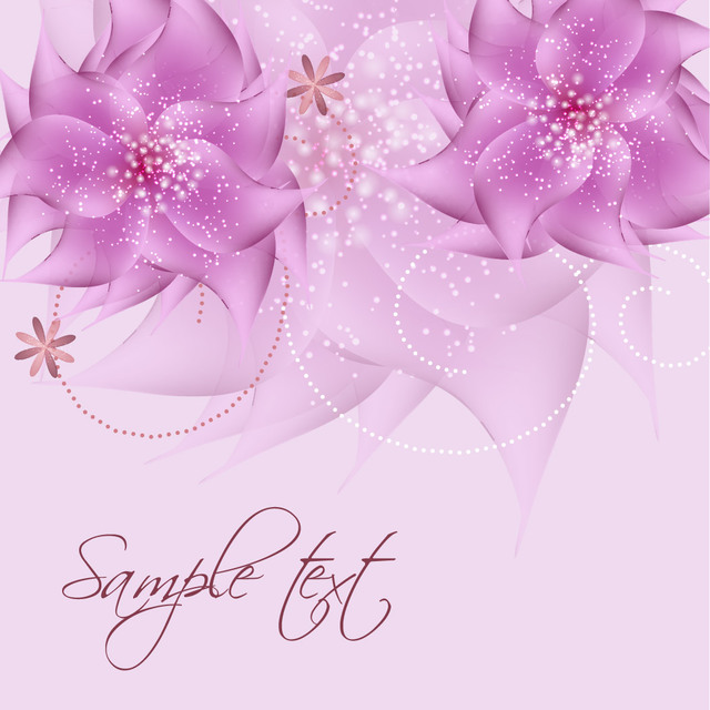 Free Romantic Full Blossom Pink Flower Sparkles Background