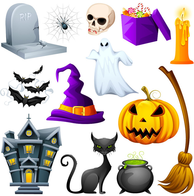 Free Hunted Cute Halloween Object Pack