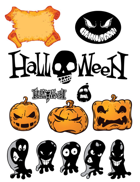 Free Funky Halloween Stuff Pack with Typography