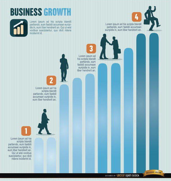 Free Business growth infographics