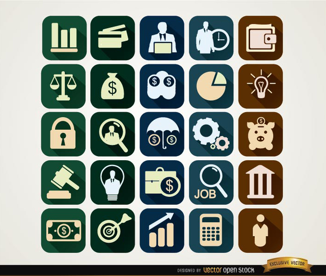 Free Squared financial icons