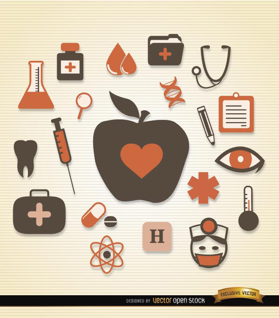 Free Medical health icons pack