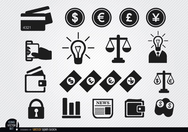 Free Financial icons set