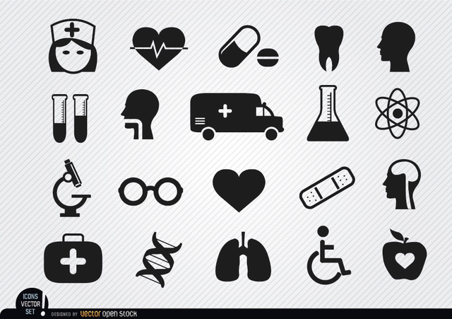 Free Vectors: 20 Medical and health icons | Vector Open Stock