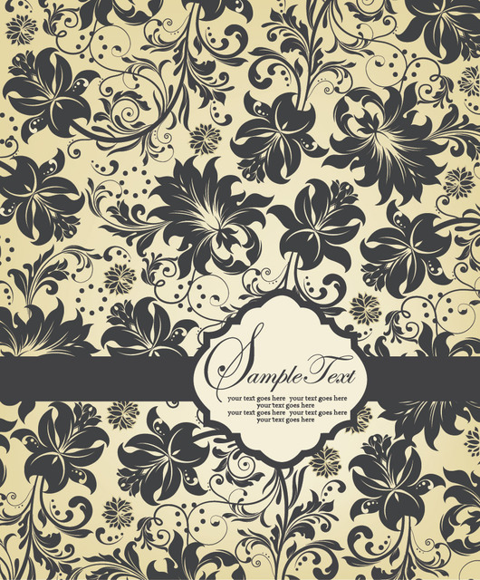 Free Floral Pattern Template Invitation Card