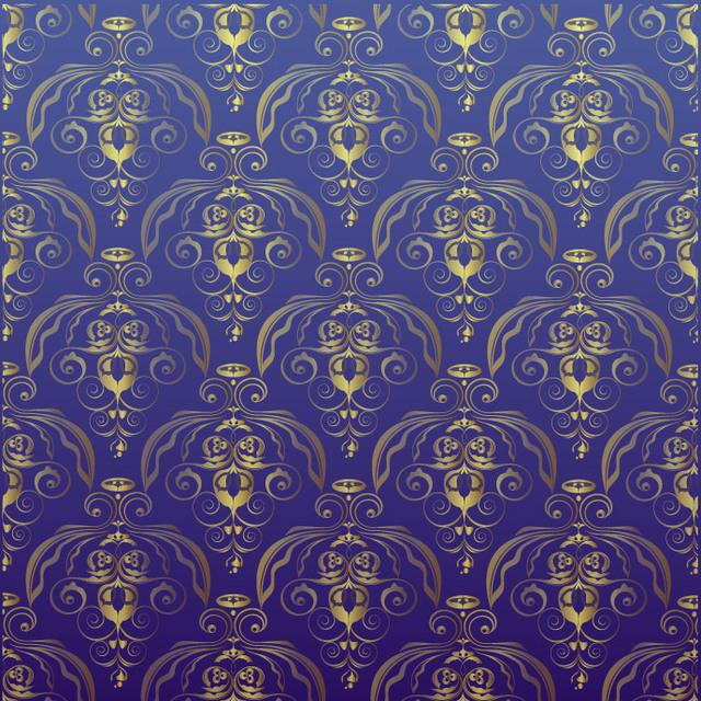 Free Golden Antique Damask Seamless Pattern