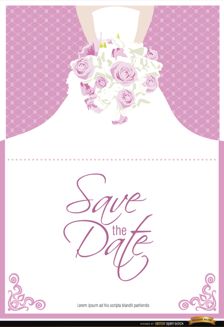 Free Marriage invitation dress flowers