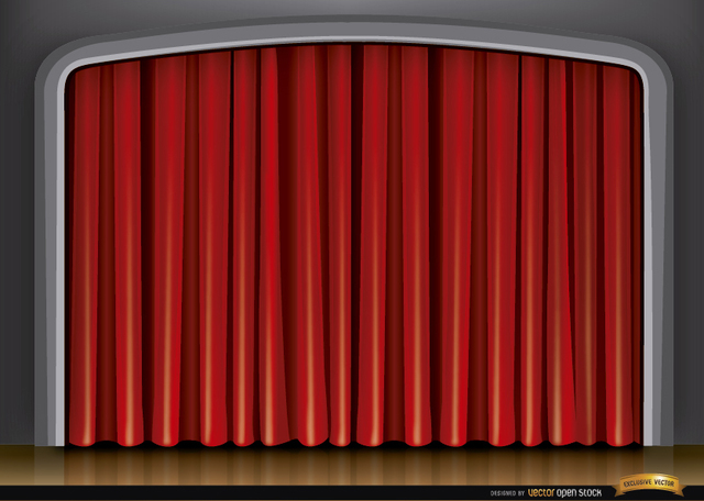 Free Stage red curtain background