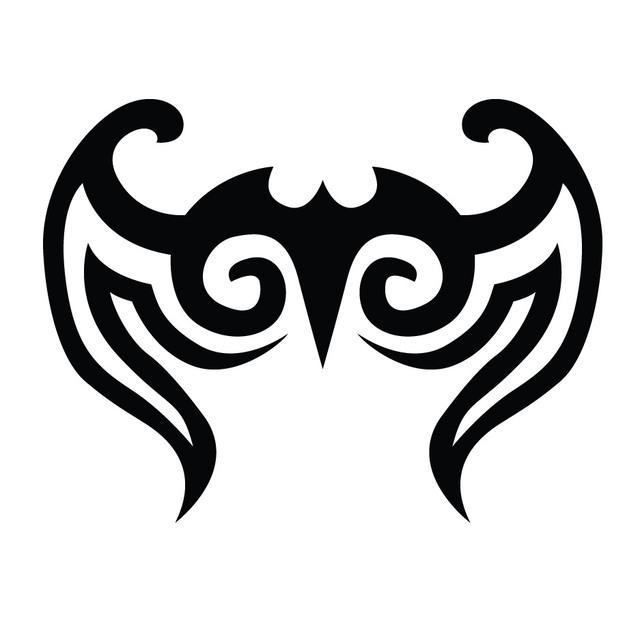 Free Abstract Black Tribal Bird Tattoo