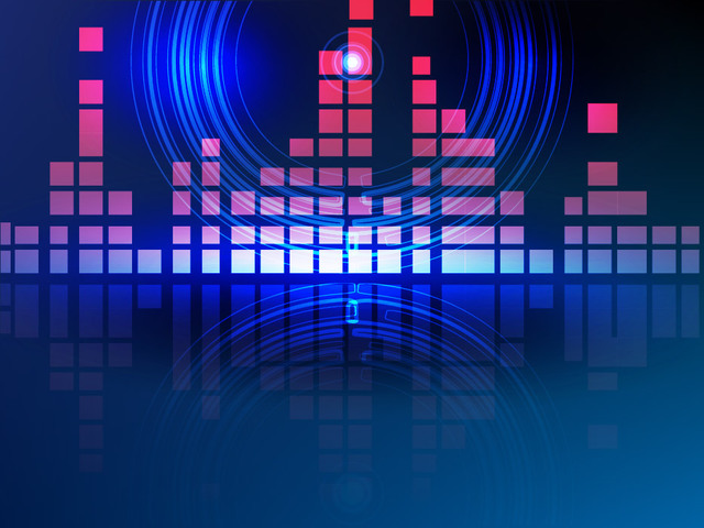 Free Pink Bars Blue Circles Abstract Digital Background