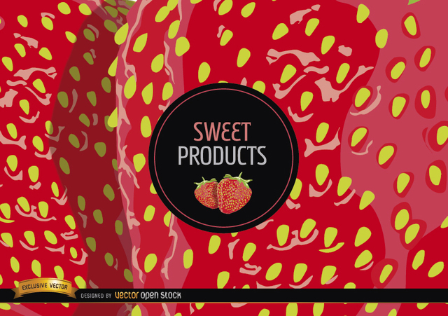 Free Vectors: Strawberry background and label | Vector Open Stock