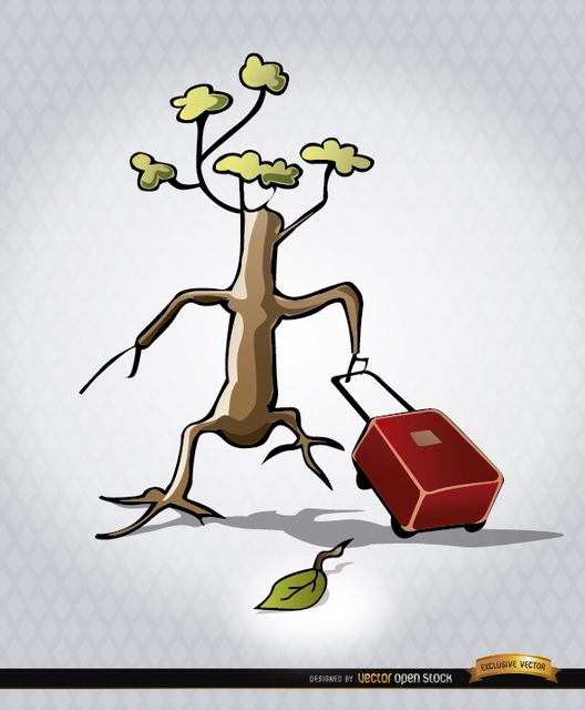 Free Endangered tree leaving briefcase
