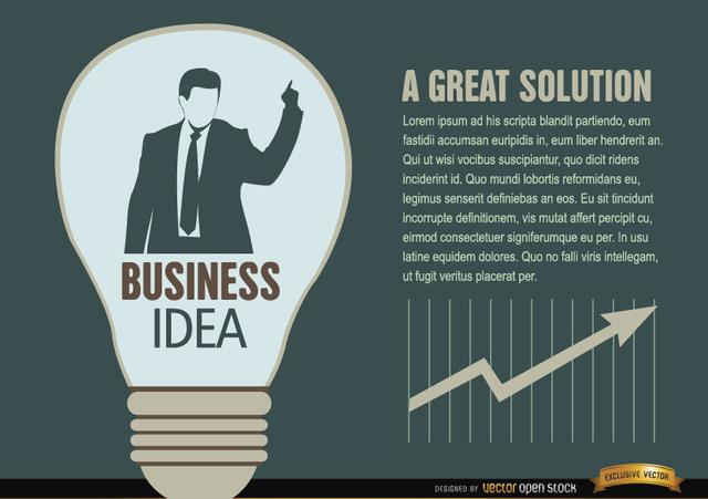 Free Businessman idea light bulb