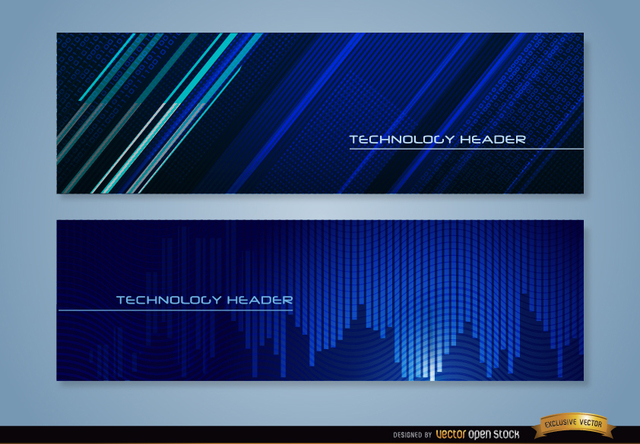 Free Blue technology headers
