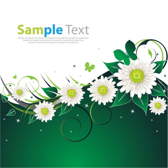 Free vectors spring flowers swirling floral background the vector art mightylinksfo