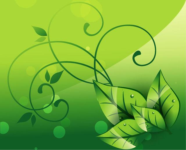 Free Elegant Floral Swirls Nature Background