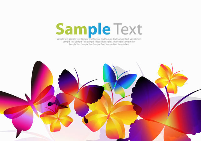 Free Colorful Decorative Butterfly Collection