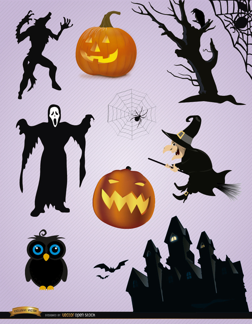 Free 10 Scary Halloween elements
