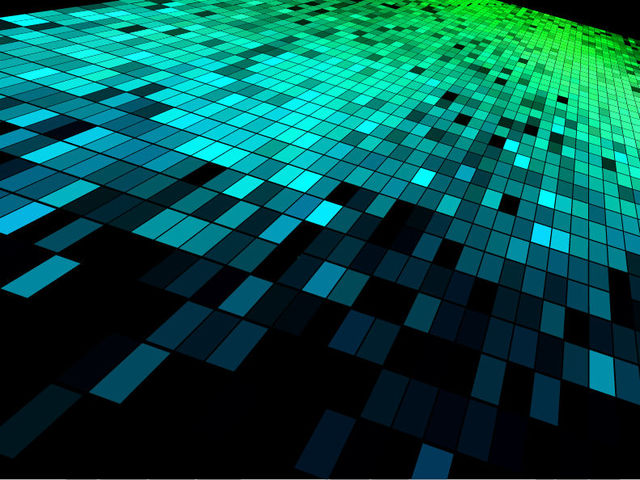 Free Tiled-up High Tech Pixilated Squares