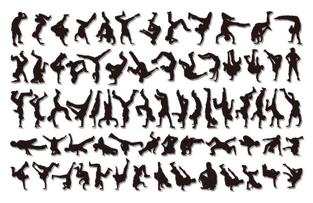 Free Hip Hop Boys Cool Dancer Pack Silhouette