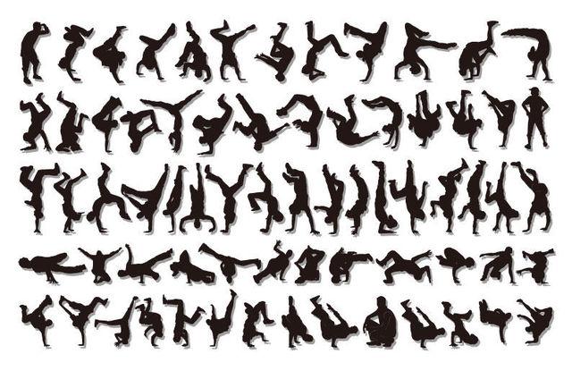 Free Vectors: Hip Hop Boys Cool Dancer Pack Silhouette | The Vector Art