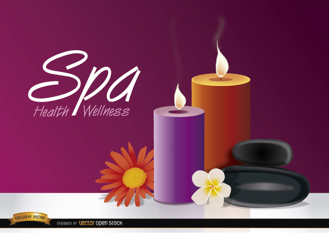 Free Candles flowers spa background