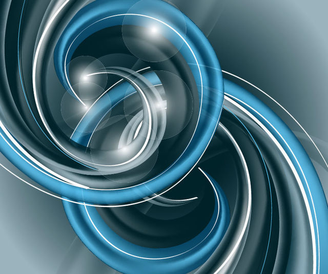 Free Abstract 3D Spiraling Helix Blue Background