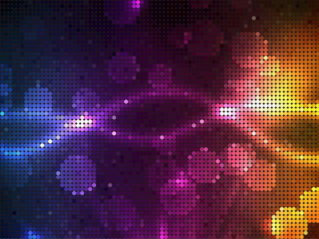 Free Colorful Pixilated Glowing Mosaic Pattern