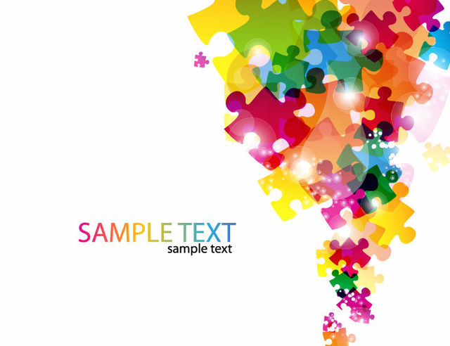Free Colorful Glossy Puzzles Business Background