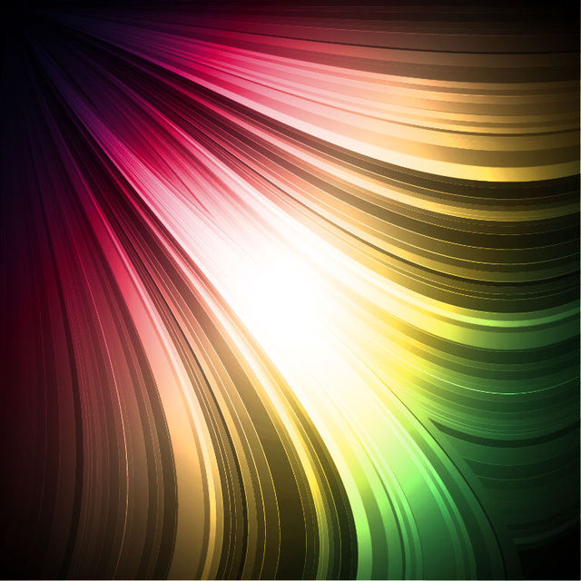 Free Abstract Rainbow Lines Background