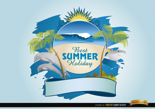 Free Summer beach logo